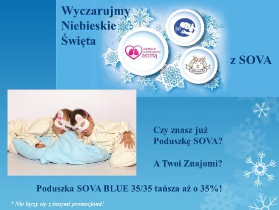 ALERGSOVA Niebieskie Święta z SOVA 2017 Poduszka